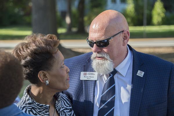 Davidson mayor Rusty Knox and Ruby Houston.