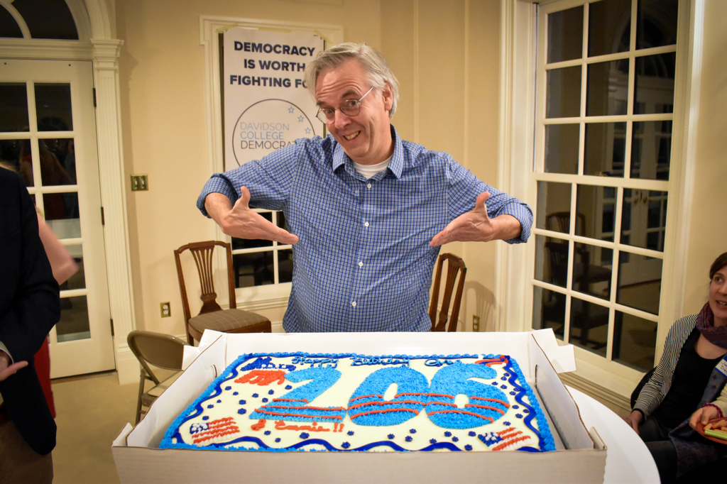 Greg Snyder and his bday cake