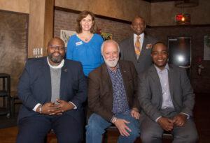 Democratic candidates: Ray McKinnon, John Autry, Spencer Merriweather, Natasha Marcus, and Garry McFadden.