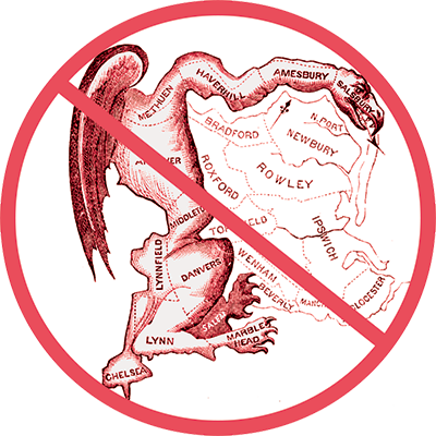 Gerrymander salamander in No symbol